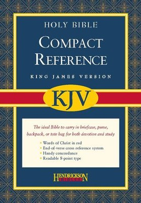 KJV Compact Large Print Reference Bible, Bonded Leather, Burgundy   -