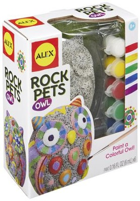 Paint A Rock Pet, Owl  -