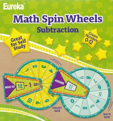 Math Spin Wheels - Subtraction   -