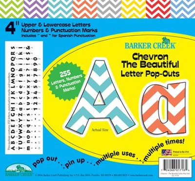 Chevron Beautiful 4 Letter Pop-Outs   -