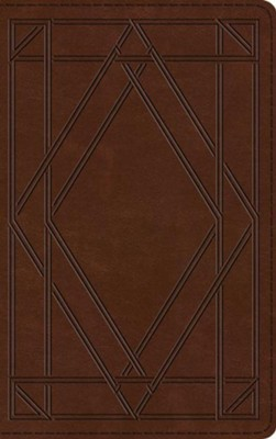 ESV Thinline Bible (TruTone, Chestnut, Wood Panel Design)  -