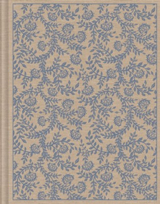 ESV Single Column Journaling Bible (Cloth Over Board, Flowers)  -