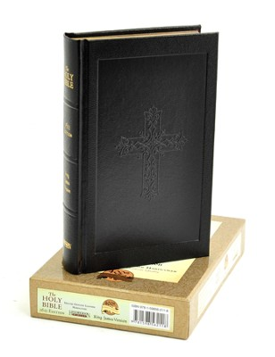KJV 1611 Bible, Deluxe Edition--genuine leather, black  - Slightly Imperfect  -