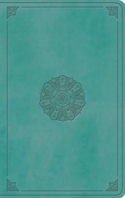 ESV Large Print Value Thinline Bible (TruTone, Turquoise, Emblem Design)  -