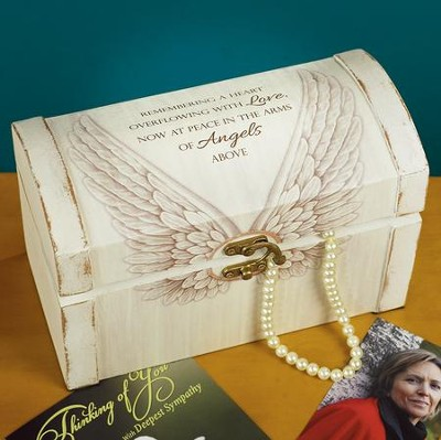 Remembering a Heart Overflowing With Love, Now At Peace In the Arms Of Angels Above Memory Box  -