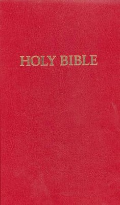 KJV Pew Bible, Red - Case of 24  -