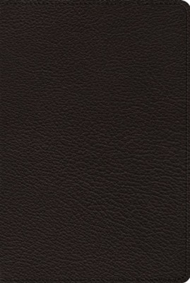 ESV Omega Thinline Reference Bible: 80th Anniversary Edition (Black Goatskin Leather)  -
