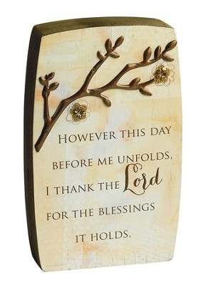 I Thank the Lord, Blessing Branches Plaque  -