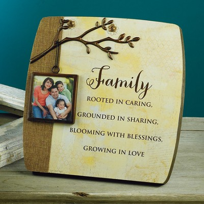 Family Photo, Blessing Branches Plaque  -