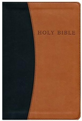 KJV Personal Size Giant Print Reference Bible,  imitation leather, black/tan - Slightly Imperfect  -