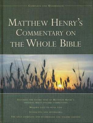 Matthew Henry's Commentary on the Whole Bible   -     By: Matthew Henry