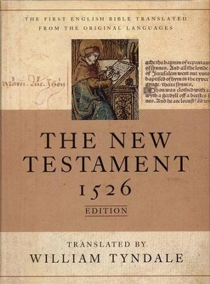 The Tyndale New Testament, 1526 Edition--Genuine leather, black  -