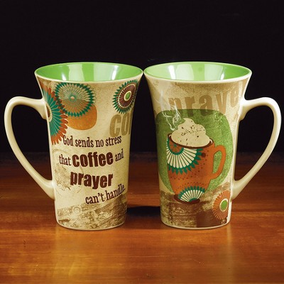 Coffee and Prayer Latte Mug   -