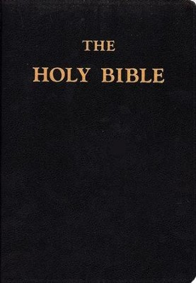 Douay-Rheims Bible, Hardcover With Genuine Leather, Black  -     Edited By: Bishop Richard Challoner