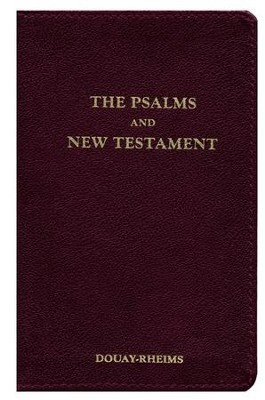 Douay-Rheims New Testament With Psalms, Genuine Leather, Burgundy  -     Edited By: Bishop Richard Challoner     By: Bishop Richard Challoner(Ed.)