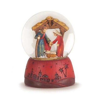 Holy Family Water Globe, 3 Inches  -