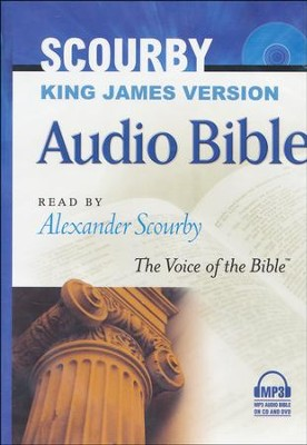 KJV Bible on MP3--3 CDs plus DVD   -     Narrated By: Alexander Scourby