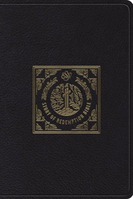 ESV Story of Redemption Bible: A Journey through the Unfolding Promises of God (Top Grain Leather, Black)  -