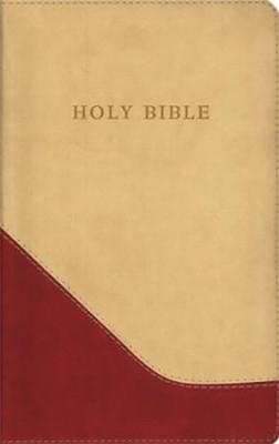 The KJV Personal-Size Giant-Print Reference Bible, Brick Red/Sand Flexisoft - Slightly Imperfect  -