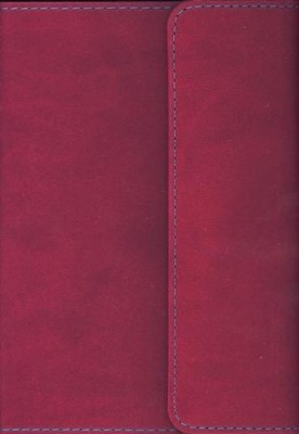 KJV Large Print Compact Reference Bible with Flap Flexisoft Berry - Slightly Imperfect  -