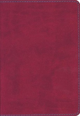 KJV Compact Large Print Reference Bible, Flexisoft Berry   -