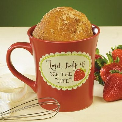 Lord, Help Us See The Light, Cake Mug with Whisk  -