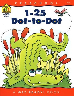 1-25 Dot-to-Dot Get Ready Workbook   -     By: Homeschool