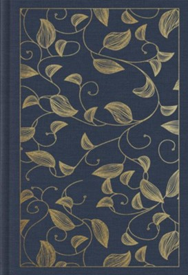 ESV Student Study Bible, navy cloth over board with vine design  -