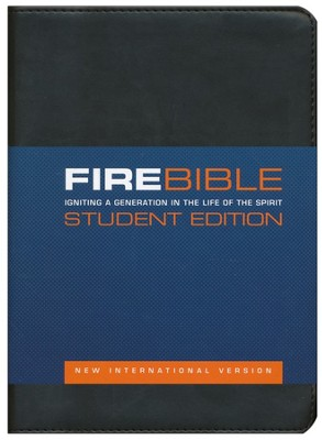 Fire Bible Student Edition, Imitation Leather black  - Slightly Imperfect  -