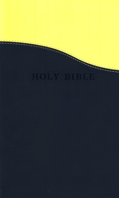 KJV Personal Size Giant Print Flexisoft Bible blue/lemon  - Slightly Imperfect  -