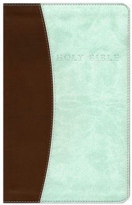 KJV Personal Size Giant Print Flexisoft Bible chocolate/mint - Slightly Imperfect  -