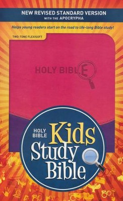 NRSV Kids Study Bible with the Apocrypha Flexisoft violet/pink - Slightly Imperfect  -