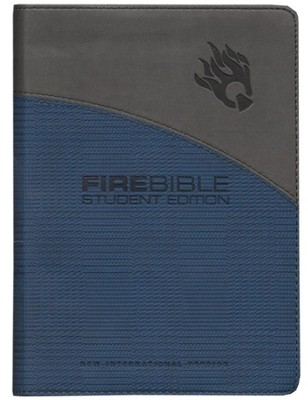 Fire Bible Student Edition, Imitation Leather blue/gray - Slightly Imperfect  -
