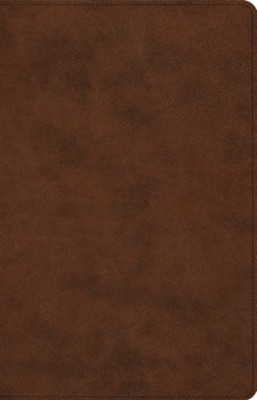 ESV Large-Print Thinline Reference Bible--soft leather-look, brown  -