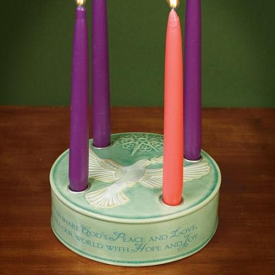 Let Us Share God's Peace and Love Advent Wreath  -