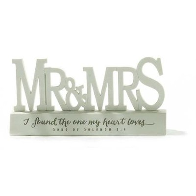 Mr. and Mrs., I Found the One My Heart Loves Word Figure  -