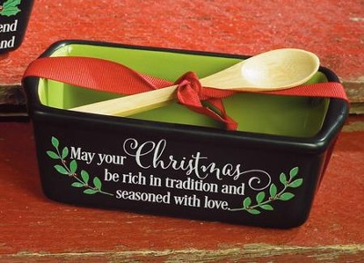 May Your Christmas Be Rich In Tradition and Seasoned With love Loaf Pan  -