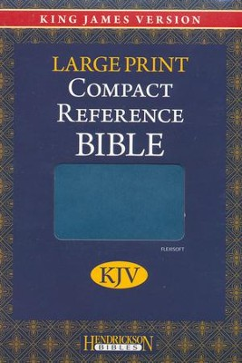 KJV Large Print Compact Reference Bible, Flexisoft leather, Blue   -