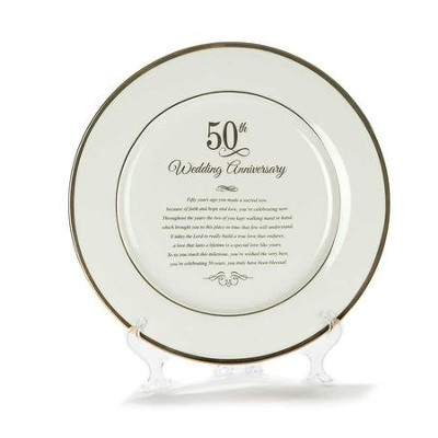 50th Wedding Anniversary Plate  -