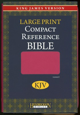 KJV Compact Reference Bible Flexsoft Pink   -