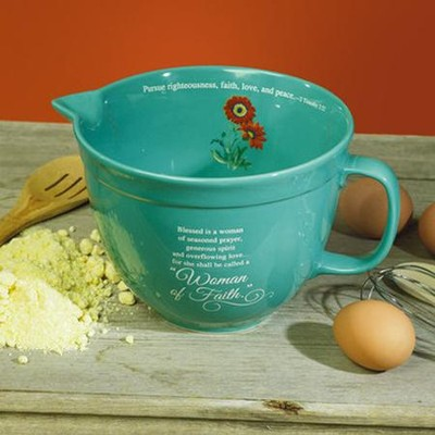 Woman of Faith, Mixing Bowl - Teal   -