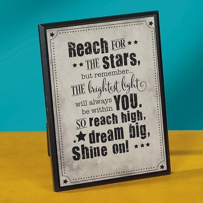 Reach for the Stars Tabletop Plaque  -