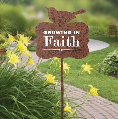 Grounded In Faith Garden Stake  -