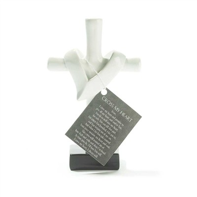 Cross My Heart Tabletop Cross, White  -