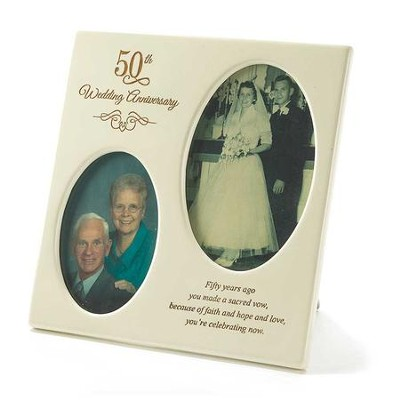 50th Wedding Anniversary Photo Frame, 3x5, 4x6  -