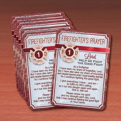 Firefighter Prayer Cards, Pack of 25  -