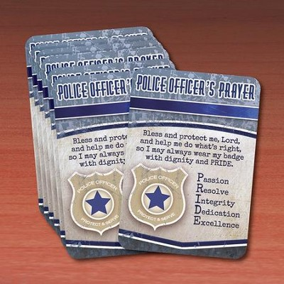 Police Officer Prayer Cards, Pack of 25  -