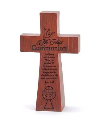 My First Communion, Dove, Tabletop Cross  -