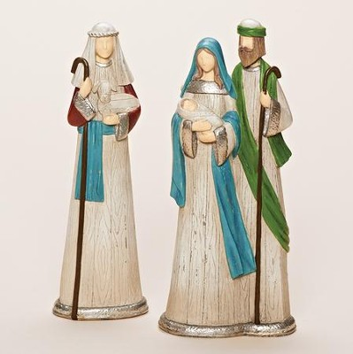 Contemporary Holy Family Nativity Set 2 Pieces   -