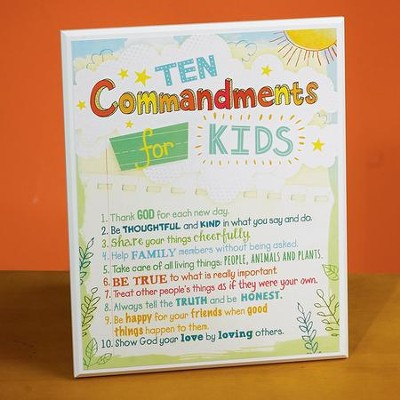Ten Commandments Kids Plaque  -